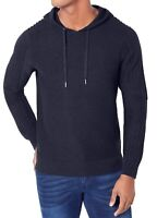 INC Mens Sweater Blue Size Medium M Pullover Hooded Textured Knit $59 164