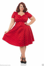 Plus Size Spotted Skater Dresses for Women