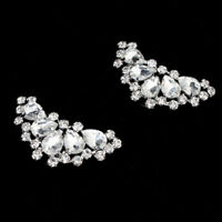 2PCS hoe Clips Rhinestones Metal Faux Pearl Bridal Prom Shoes Buckle Dec WDAmz