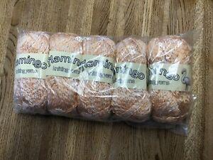 Yarn Knitting/Crochet 100% Acrylic Flamingo 5x100g Balls Soft Peach Puff DK