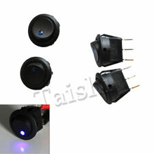 Hot 12V 16A 10PC Car Round Rocker Dot Boat Blue LED Light Toggle ON/OFF Switch