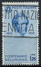 ITALIA 1935 SG # 465, 1L25 VINCENZO BELLINI USATO CAT £ 13 #D 6029