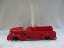 Vintage Saunders Tool & Die Red Plastic Wind-Up Fire Truck