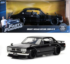 Nissan Skyline 2000 GT-R brian Fast & Furious negro Black 1:24 jada Toys 99686