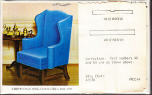 The House of Miniatures Chippendale Wing Chair Circa 1750-1790 Sealed