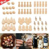 10X poupées bois en bois petit peuple bébé enfant poupée enfants jouet artisanat