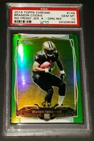 2014 Topps Chrome #149- Brandon Cooks Green Refractor RC! PSA GEM MINT 10!