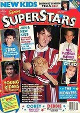 SUPERSTARS Spring 1990 Monkees, Neal Patrick Harris, New Kids on Block FREE S&H