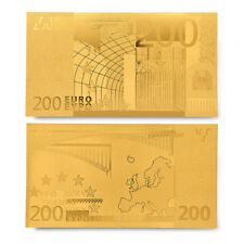 Gold Banknote Euro 200 Gold Currency Notes Engraved Bill For Collection