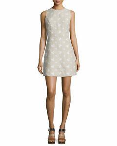 NEW MICHAEL Michael Kors  Floral-Print Linen Dress Size 8