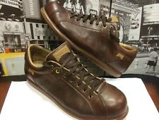 Camper Iconic Men's Pelotas Low Top Sneaker shoe Leather Brown EU 47 US 13