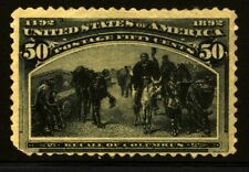 US Scott 240 Colombian Expositionunused No Gum Faulty See scan