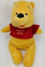 """Disney Winnie The Pooh 9"""" Stuffed Animal With Beanbag Bottom Excellent Condition"""