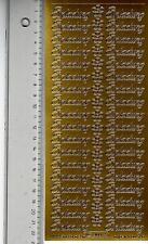 Aufkleber  Einladung gold Stickerbogen Sticker Schriftzug (522