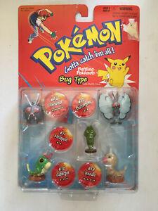 Pokemon Battle Figures - Bug Type - Butterfree, Venonat, Metapod,Caterpie,Weedle