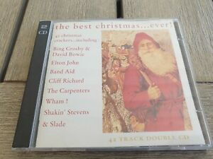 2CD THE BEST CHRISTMAS EVER (Rare 80's DAVID BOWIE BAND AID EARTHA KITT WINGS)