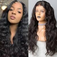 Soft Wavy 13X6 Lace Front Wigs 9A 1B Brazilian Human Hair Wig Long Full Wig Zbnm