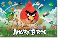 ANGRY BIRDS ELECTRONIC VIDEO GAME POSTER 34X22 NEW FREE SHIPPING