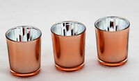 20 Copper Candle Wedding Event Anniversary Tealight votive holder table decor