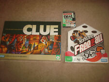Clue + Monopoly Deal + Yahtzee Free For All SEALED Board Game LOT Card Fun NEW