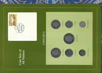 Coin Sets of All Nations Costa Rica w/card 1983-1984 UNC 20,10,5,2 Colones 1983