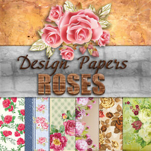 "US Roses Design Paper Scrapbooking Card 6x6"" Craft Paper Card-making #cra"