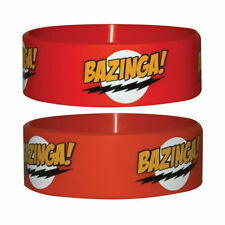 Official The Big Bang Theory - Bazinga Logo - Red Rubber Gummy Wristband