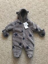 NEW Next Snowsuit Pramsuit Coat New Baby 0-1 Mth Boys Girls Clothing Fleece