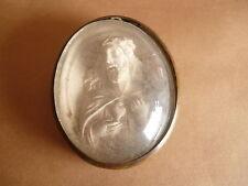 Reliquaire jesus  christ Sculptée  verre Bombé  reliquary relic petrification