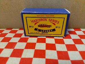 Matchbox  Moko Lesney No31 Ford Station Wagon EMPTY Reproduction Box  NO CAR