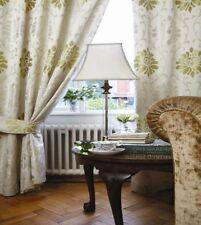 Cortinas y visillos color principal verde salón