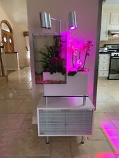brio aquaponic fish tank and stand in white