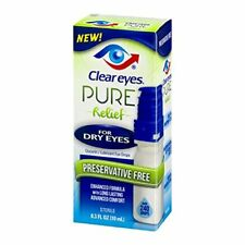 Clear Eyes Pure Relief Dry Eyes 0.3 oz - EXP 10/17