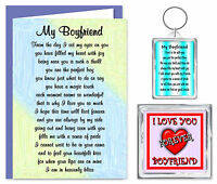 Boyfriend Verse Gift Set - Card, Keyring & Magnet - I Love You  Birthday Present