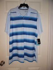 NWT NEW Nike Golf Men's Blue Stripe Standard Fit Dri-fit Golf Polo Size XXL 2XL