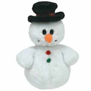 TY Jingle Beanie Baby - COOLSTON the Snowman (4 inch) - MWMT's