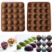 20-Half Ball Silicone Chocolate Mould Cake Candy Decor Sugarcraft Baking Tool