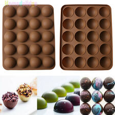 New 20-Half Ball Silicone Chocolate Mould Fondant Cake Candy Decor Baking Tools
