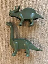 Dinosaur Taco Holders Green Triceratops Brachiosaurus