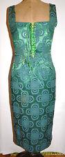 Dress Unique Bespoke Pencil Wiggle Steampunk Corset Boned Size 10 See Listing