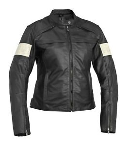 NOS RIVER ROAD 095015 TWIN IRON LEATHER JACKET BLACK SIZE WOMENS MD