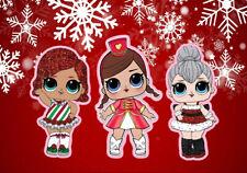 7X5FT Lol princess dolls Winter snowflakes backdrop girl birthday background