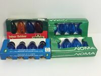 Vintage Replacement C7.5 Christmas Bulbs 4 Box Indoor/Outdoor Blue + Multi NOS