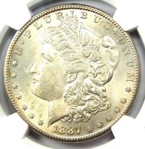 1887-S Morgan Silver Dollar $1 - NGC Uncirculated Details (UNC MS BU) - Rare!