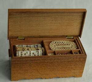 Dollhouse Miniature Colonial Shaker Hope Chest Trunk Linens Artisan J Chasteen