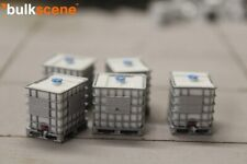 BULKSCENE - MODEL IBC PALLET TANKS 1000L W/ BLUE LIDS OO GAUGE 1/76 - PACK OF 5