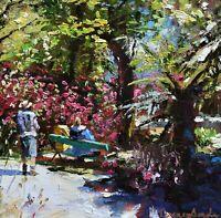 Jeremy Sanders Original Oil Painting - Trengwainton Garden Cornwall Cornish Art