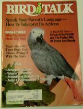 **BIRD TALK MAGAZINE Aug 92 African Grey Parrot Weaning Baby Mealy Amazon Canary