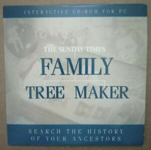 FAMILY TREE MAKER - THE SUNDAY TIMES - CD - SOFTWARE - PC - PROMO
