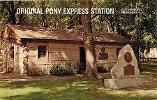 Pony Express Station City Park Gothenburg Nebraska Postcard